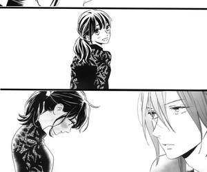 black&white, blush, and couple image