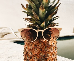 pinapple, summer, and sun glasses image