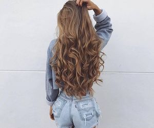 blonde, hair, and curls image