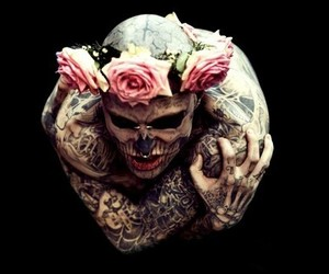 tattoo, rose, and rick genest image