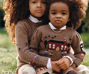 kids, baby, and Afro image