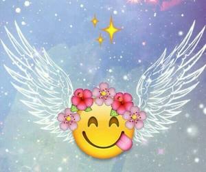emoji, angel, and wallpaper image