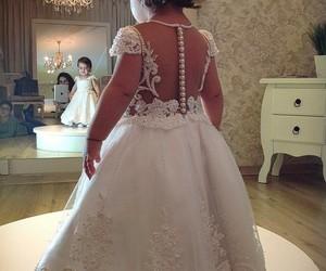 baby, dress, and wedding image