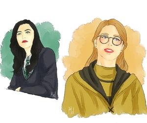 hogwarts, katie mcgrath, and slytherin image
