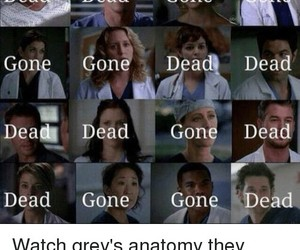 grey's anatomy, gone, and dead image