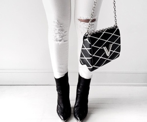 accessories, bags, and black and white image