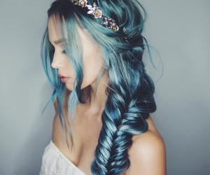 blue, hair, and margaritas image