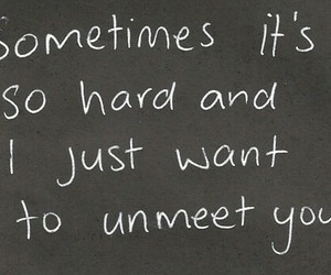 quote, hard, and sad image