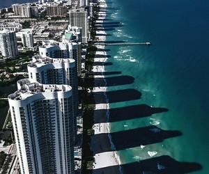 beach, city, and Miami image
