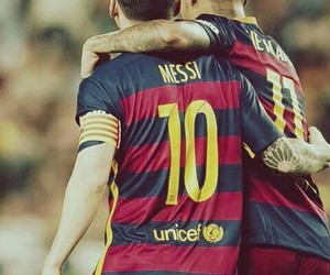neymar, fc barcelona, and messi image
