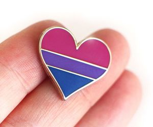 bisexual, flag, and heart image