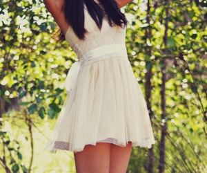 brunette, dress, and hair image