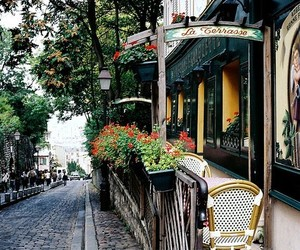 paris, cafe, and street image