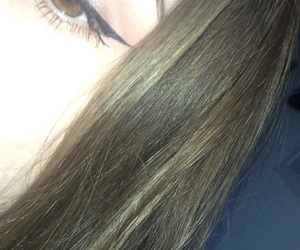 eye, eyeliner, and hair image
