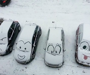 car, snow, and funny image