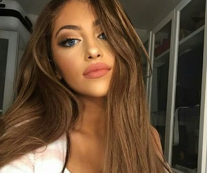 girl, makeup, and beauty image