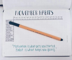bullet, journal, and habits image