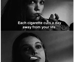 cigarette, life, and smoke image
