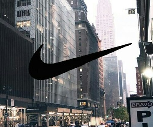 city, nike, and new york image