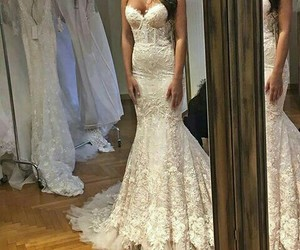 girl and wedding dress image