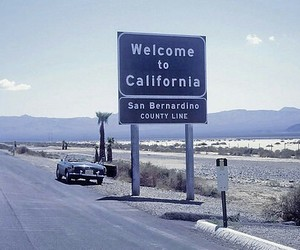 california, travel, and car image
