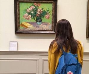 girl, art, and yellow image