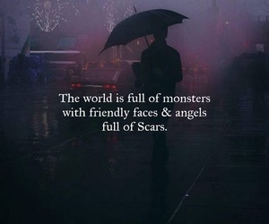 angel, scars, and monster image