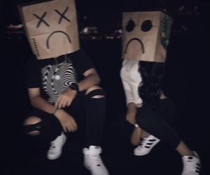 grunge, sad, and black image