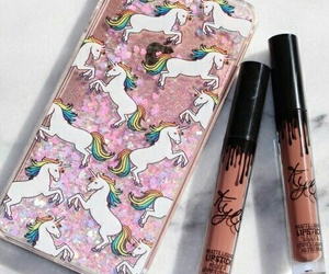 lipstick, unicorn, and case image