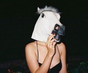 grunge, horse, and smoke image