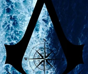 Assassins Creed, blue, and pirate image