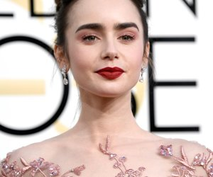 lily collins, golden globes, and beauty image