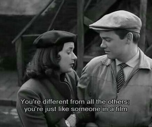 black and white, movie, and quote image