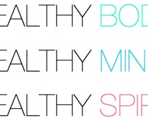 body, healthy, and mind image