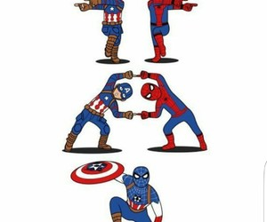 captain america, spiderman, and drawing image