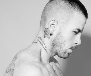 boy, shave, and Tattoos image