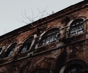 brown, building, and dark brown image