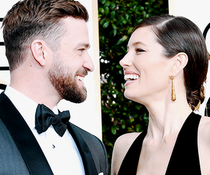 golden globes, jessica biel, and justin timberlake image