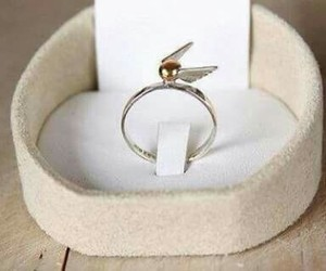 harry potter, ring, and snitch image