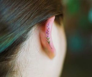 tattoo, art, and ear image