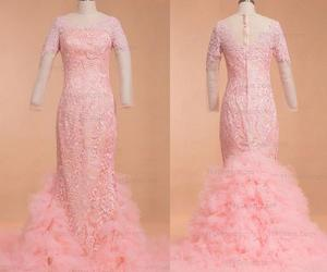 evening dresses, pink prom dresses, and pageant image