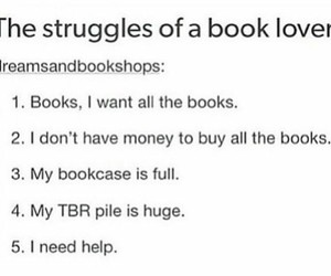 books, bookshelves, and funny image