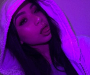 girl, icon, and purple image