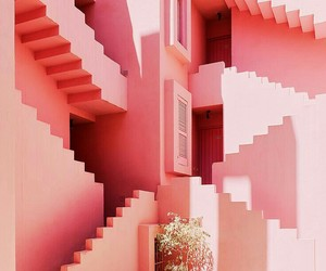 pink, architecture, and aesthetic image