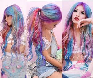 pastel, rainbowhair, and feshfenhair image