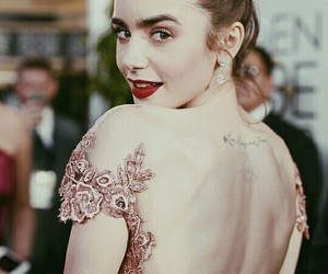 lily collins, actress, and golden globes image