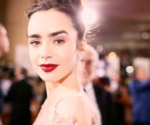 golden globes, red carpet, and lily collins image