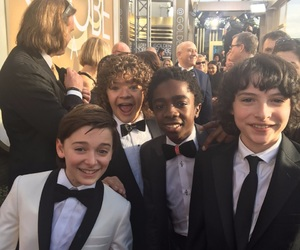 stranger things, celebrity, and golden globes image
