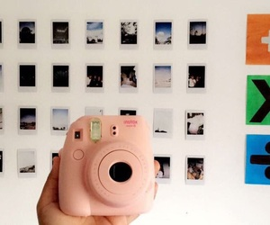 camera, pink, and instaxmini image