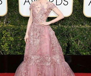 lily collins, golden globes, and dress image